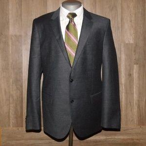 Hugo Boss Charcoal Cashmere Blend Suit Size 44 R
